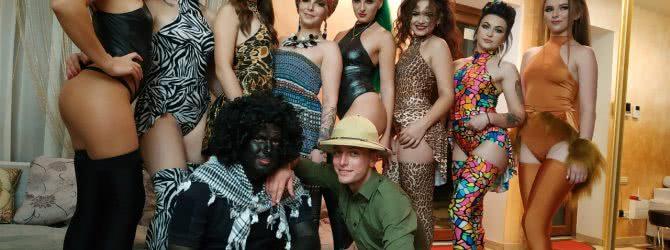 Вечеринка в Африканском стиле, лучшие танцовщицы